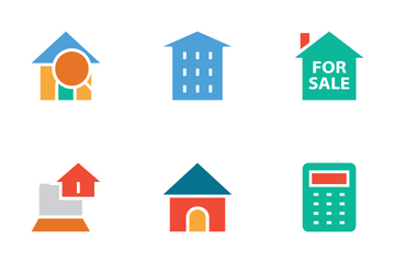 Real Estate Colored Icons Icon Pack
