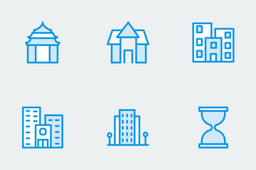 Real Estate Cute Icons Icon Pack