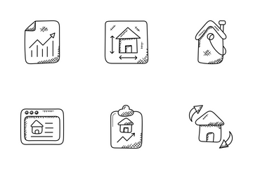 Real Estate Doodle Icons  Icon Pack
