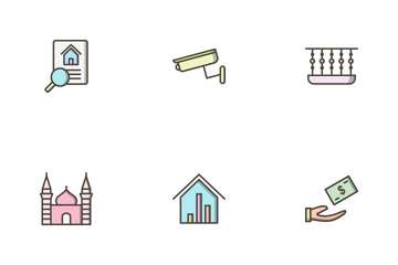 Real Estate Filled Outline Icon Pack