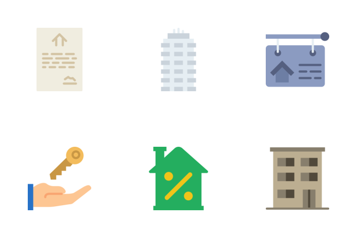 Real Estate - Flat Icon Pack