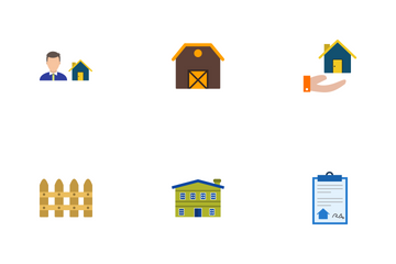 Real Estate Flat Icon Pack