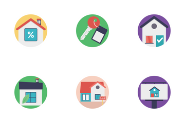 Real Estate Flat Icons 1 Icon Pack