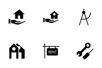 Real Estate Glyphs Icons Set 1 Icon Pack