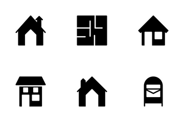 Real Estate Glyphs Icons Set 2 Icon Pack