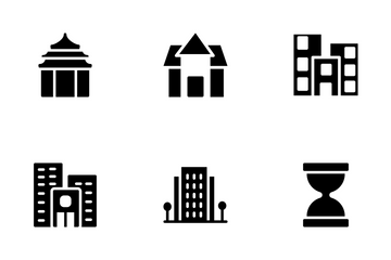 Real Estate Glyphs Icons Set 5 Icon Pack