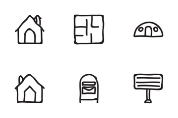 Real Estate Hand Drawn Set 2 Icon Pack