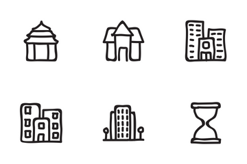 Real Estate Hand Drawn Set 5 Icon Pack