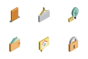 Real Estate Isomatric Icon Pack