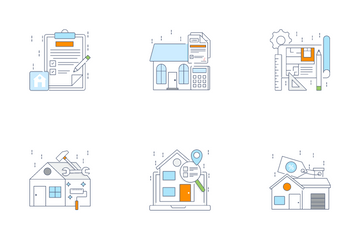 Real Estate, Properties And Commercial Icon Pack
