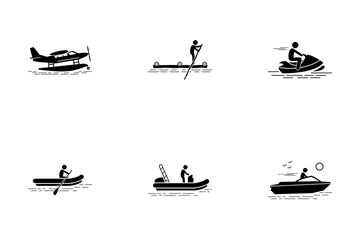 Recreational Water Vehicle Icon Pack
