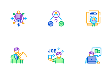 Recruitment And Research Employee Icon Pack