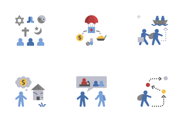 Refugee Crisis Icon Pack