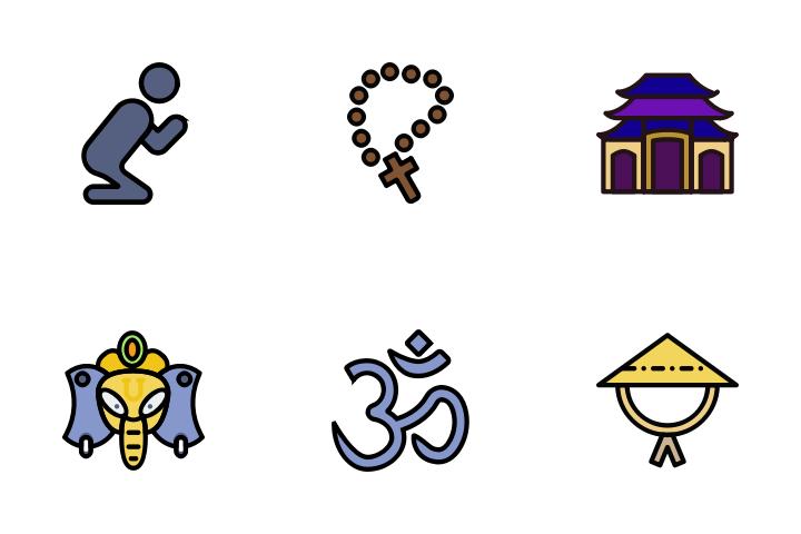 Religion - Retro Icon Pack