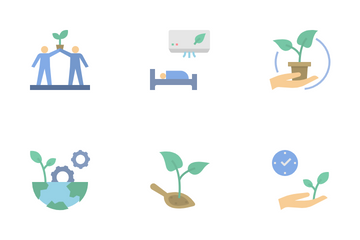Renewable Energy And Environmental Sustainability Icon Pack