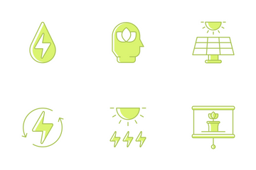 Renewable Energy & Green Technology Icon Pack