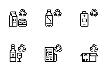 Renewable Energy & Recycling Icon Pack
