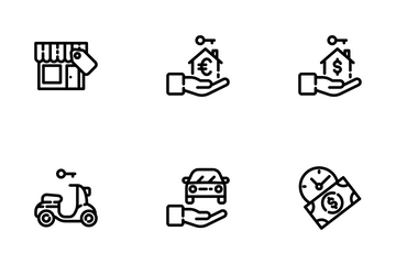 Rent Icon Set Icon Pack