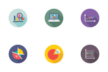 Reports And Charts Flat Icons 2 Icon Pack