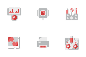 Research And Data Processing Icon Pack