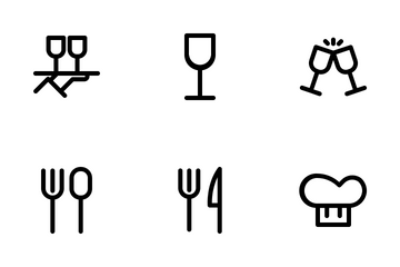 Restaurant Set Icon Pack