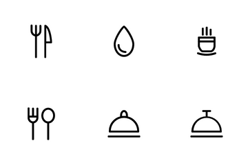 Restaurant Set Icon Pack