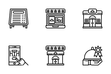 Restaurants And Services Icon Pack
