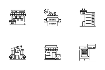 Retail Shopping Icon Pack