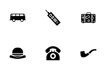 Retro Objects - Glyph Icon Pack
