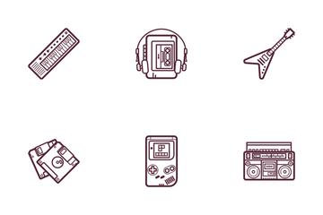 Retro Wave Icon Pack
