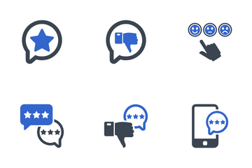 Review And Feedback Icon Pack