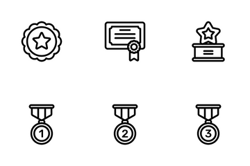 Rewards And Badges Icon Pack