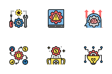 Risk Management Color Icon Pack