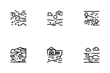 River Landscape Icon Pack