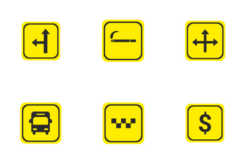 Road Pointers Icon Pack