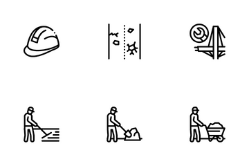 Road Repair And Construction Icon Pack