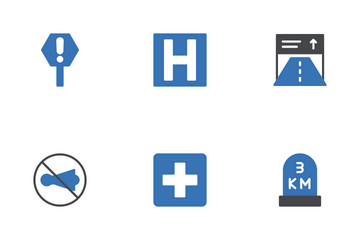 Road Sign Icon Pack