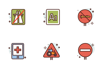 Road Signs Icon Pack