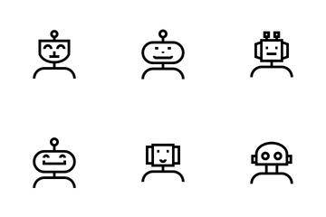 Robot Avatar Icon Pack
