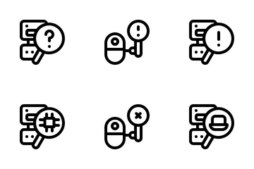 Robot Search Icon Pack