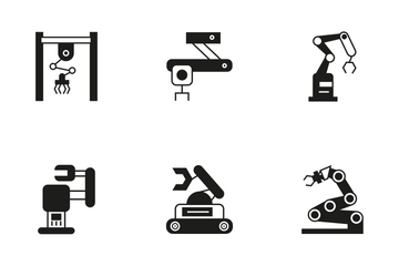 Robotic Arm 10 Icon Pack