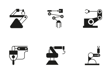 Robotic Arm 13 Icon Pack