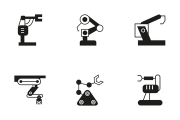Robotic Arm 14 Icon Pack
