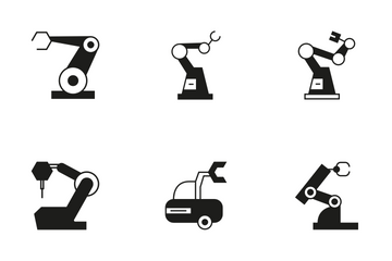 Robotic Arm 15 Icon Pack