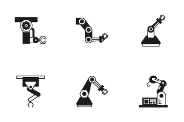 Robotic Arm 3 Icon Pack