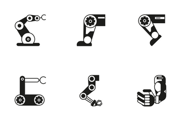 Robotic Arm 4 Icon Pack