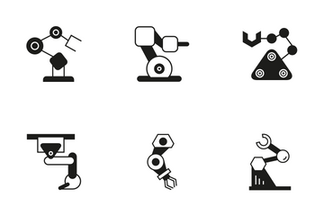 Robotic Arm 6 Icon Pack