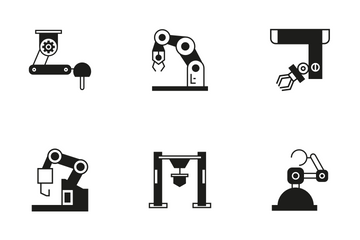 Robotic Arm 7 Icon Pack