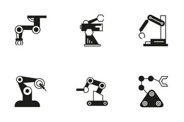 Robotic Arm 8 Icon Pack