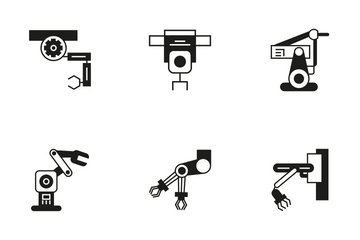 Robotic Arm 9 Icon Pack
